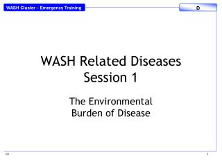 WASH Related Diseases Session 1