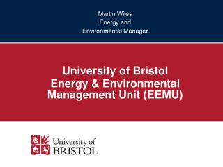 Martin Wiles Energy and  Environmental Manager