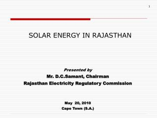 SOLAR ENERGY IN RAJASTHAN