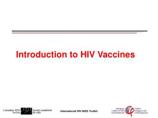Introduction to H IV Vaccines