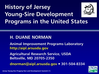History of Jersey Young-Sire Development Programs in the United States