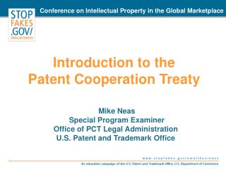 Introduction to the  Patent Cooperation Treaty