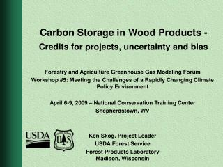 Carbon Storage in Wood Products - Credits for projects, uncertainty and bias