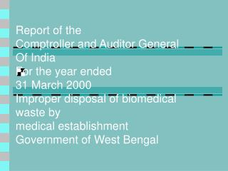 Improper disposal of biomedical waste by medical establishments