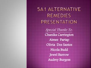 5a1 Alternative Remedies Presentation