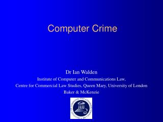 the issue of computer crimes