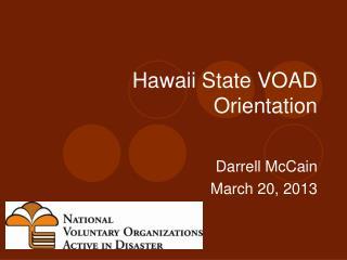 Hawaii State VOAD Orientation