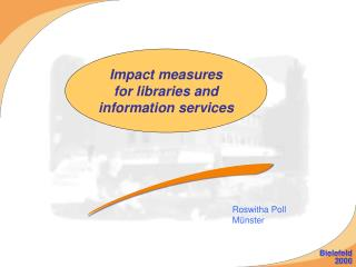 Impact measures for libraries and information services
