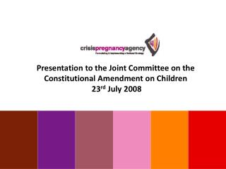 Presentation to the Joint Committee on the Constitutional Amendment on Children  23 rd  July 2008