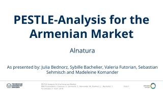 PESTLE-Analysis for the Armenian Market