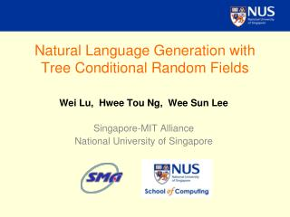 Natural Language Generation with Tree Conditional Random Fields