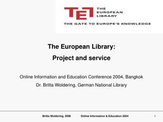 The European Library: Project and service