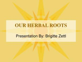 OUR HERBAL ROOTS
