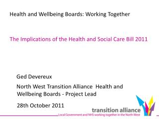 Health and Wellbeing Boards: Working Together