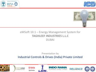 eMSoft 10.1 – Energy Management System for  TAGHLEEF INDUSTRIES L.L.C DUBAI Presentation by