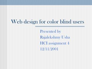 Web design for color blind users