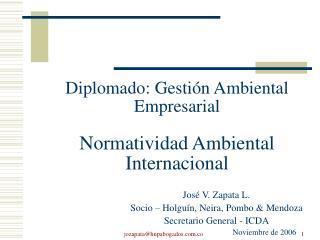 Diplomado: Gestión Ambiental Empresarial Normatividad Ambiental Internacional