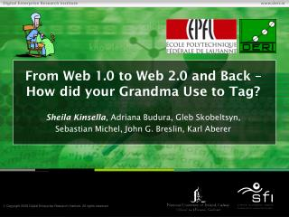 From Web 1.0 to Web 2.0 and Back – How did your Grandma Use to Tag?