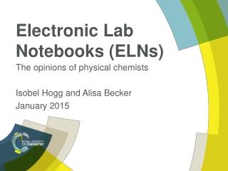 Electronic Lab Notebooks (ELNs)