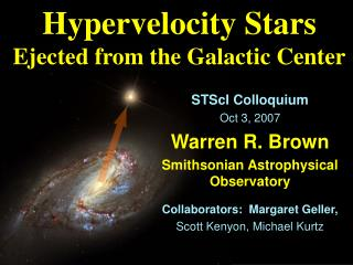 Hypervelocity Stars Ejected from the Galactic Center