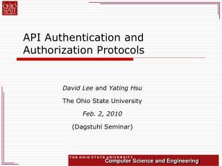 API Authentication and Authorization Protocols