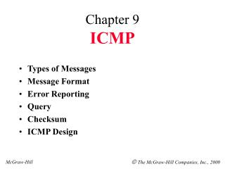 Chapter 9 ICMP