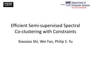 Efficient Semi-supervised Spectral Co-clustering with Constraints