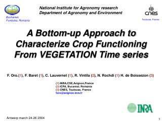 A Bottom-up Approach to Characterize Crop Functioning From VEGETATION Time series