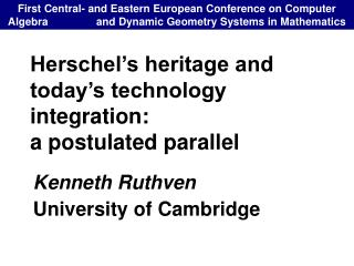Herschel's heritage and today's technology integration: a postulated parallel