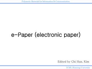 e-Paper (electronic paper)