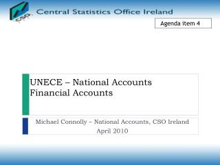 UNECE – National Accounts Financial Accounts