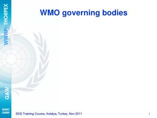 WMO governing bodies