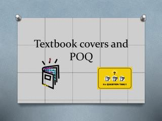Textbook covers and POQ