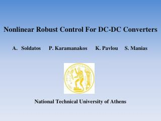 Nonlinear Robust Control For DC-DC Converters