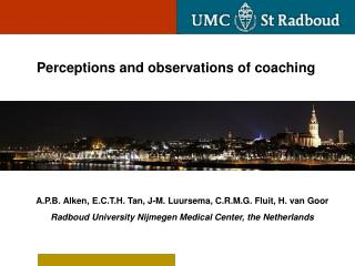 Perceptions and observations of coaching