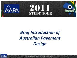 Brief Introduction of Australian Pavement Design