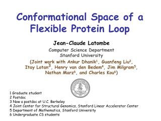 Conformational Space of a Flexible Protein Loop