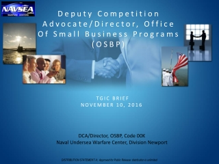 Small Business and Industry Outreach Initiative Symposium Brief