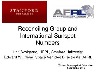 Reconciling Group and International Sunspot Numbers
