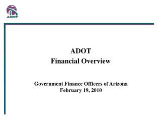 Government Finance Officers of Arizona  February 19, 2010