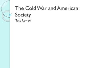 The Cold War and American Society