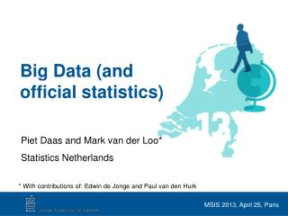 Big Data (and  official statistics)