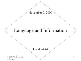 Language and Information