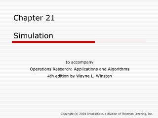 Chapter 21 Simulation