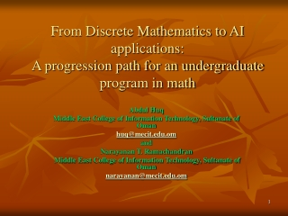 Advanced Robotics Projects for Undergraduate Students