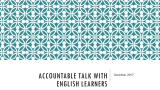 Getting students to talk