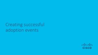 Creating successful adoption events