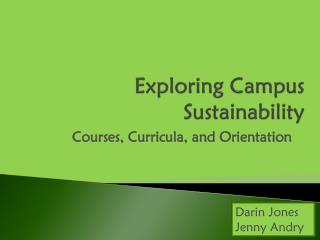 Exploring Campus Sustainability