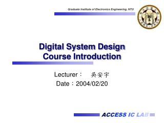 Digital System Design Course Introduction
