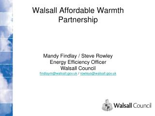 Walsall Affordable Warmth Partnership